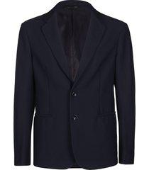 giorgio armani navy blue mesh blazer