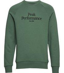 m orig c sweat-shirt trui groen peak performance
