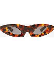 proenza schouler cat eye sunglasses dark tortoise one size