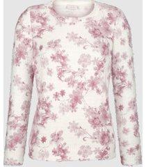 blommig tröja paola benvit::gammalrosa