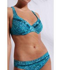 calzedonia balconette top swimsuit mauritius woman blue size 3
