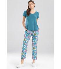 josie jersey- everyday tee pajamas, women's, blue, size l natori
