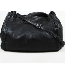bottega veneta intrecciato accented leather shoulder bag