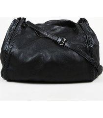 bottega veneta intrecciato accented leather shoulder bag