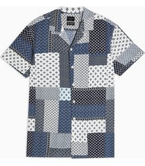 mens selected homme blue short sleeve shirt