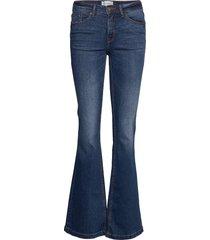 bswint bright flared je jeans utsvängda blå blend she