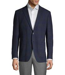 plaid wool & flax sport coat