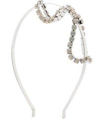 gigi burris millinery crystal-bow headband - silver