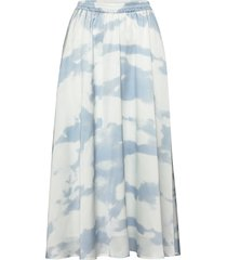 maxi skirt with elasticated waist lång kjol blå designers, remix