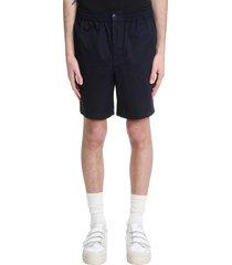 ami alexandre mattiussi shorts in blue cotton