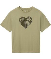 converse camiseta heart reverse print black