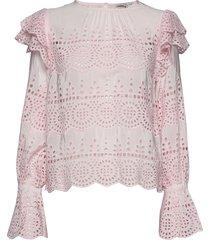marta blouse blouse lange mouwen roze by malina