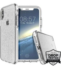 estuche para iphone x prodigee super star - blanco