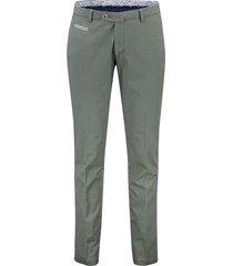 portofino pantalon flatfront slim fit groen