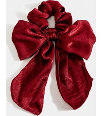 audrey full bow hair scarf - burgundy