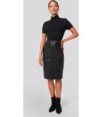 mango pencil skirt - black