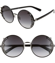 women's jimmy choo gema 59mm round sunglasses - black