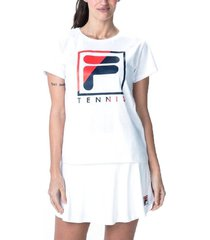 remera blanca fila tenis break