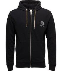 umlt-brandon-z sweat-shirt hoodie trui zwart diesel men