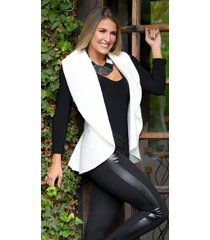 chaleco outfit 3102 para mujer blanco