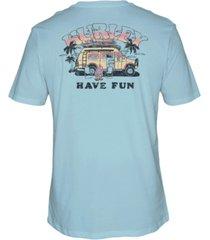 hurley men's van camper cotton t-shirt