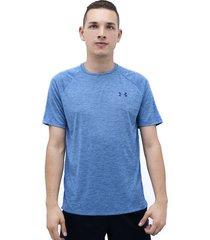 camiseta azul under armour tech 2.0 ss tee