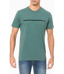 camiseta masculina estampa linha verde calvin klein jeans - pp