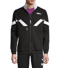puma men's international track jacket - black - size xl