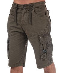 crosshatch black label mens chaseforth cargo shorts size 32r in green
