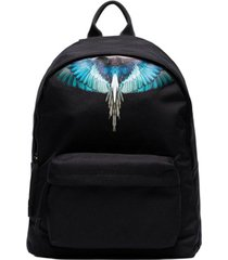 marcelo burlon county of milan mochila com estampa wings - preto