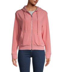 walter baker women's malory hooded jacket - pink - size l
