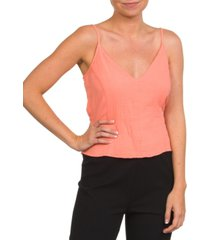 hurley cotton natural tie cropped tank