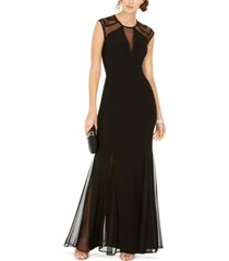 nightway petite geo illusion gown