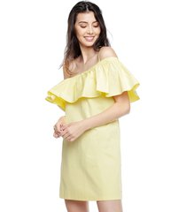 vestido amarillo tommy hilfiger