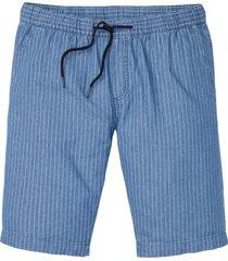 bermuda di jeans con elastico in vita regular fit (blu) - rainbow