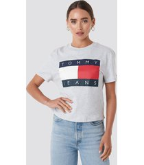 tommy jeans tommy flag tee - grey