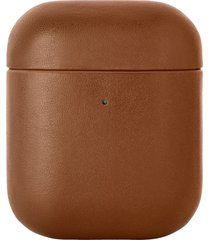 native union classic leather airpod case - brown