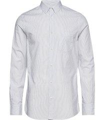 m. tim washed striped shirt overhemd business wit filippa k