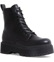steve madden women's betty lace-up platform combat booties