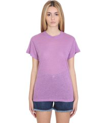 iro hinton t-shirt in viola linen