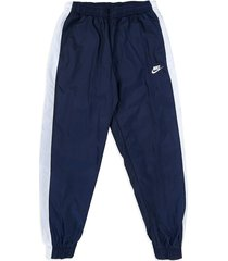 pantalón azul-blanco nike m nsw ce trk suit hd wvn