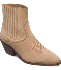 tyler suede elastic shoes boots ankle boots ankle boot - heel brun zadig & voltaire