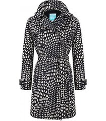 happyrainydays regenjas trenchcoat belene graphic black beige-xl