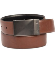 kenneth cole reaction men's stretch reversible plaque belt