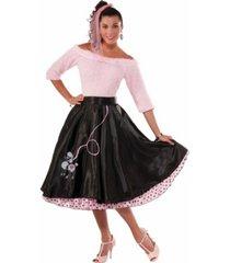 buyseasons women's 50's black poodle skirt adult costume