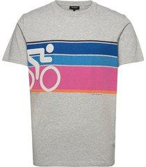 t-shirt biker t-shirts short-sleeved grå ron dorff