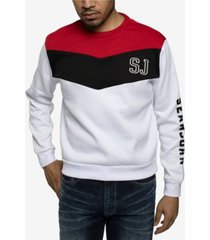 sean john men's contrast chevron sweatshirt