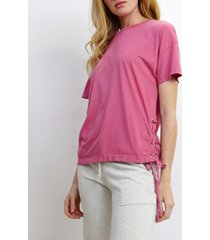 coin 1804 womens side lace up t-shirt