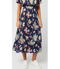 ps paul smith women's floral print skirt - multi - it 40/uk 8