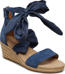 w.trina sandalette med klack espadrilles blå ugg